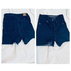 High waist denim AE shorts